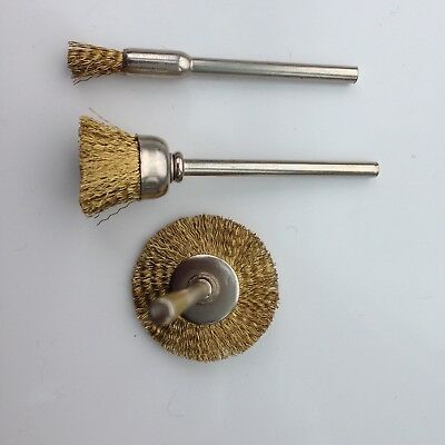 3 PC Rotary Drill Wire Wheel Cup Brush Drill Set Rust Paint Remover
