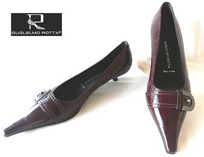 Guglielmo Rotta - Shoes all Leather Shiny Bordeaux 36 - New