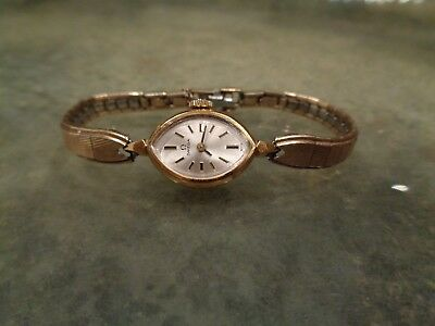 Vintage Omega Woman's Cal. 1100 Watch 17 Jewels 10K GF Gold Filled Case & Band