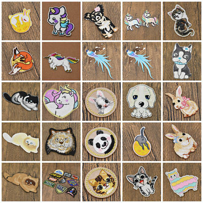 Animal Unicorn Astronaut Iron On Patch Embroidered Sticker Clothes Ornament DIY