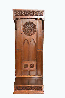 Antique French Gothic Religious Chapel,Simple and Clean Lines & Tall, Oak, 1920'