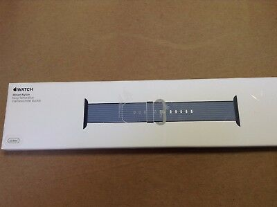 OEM Authentic Genuine Original  Apple Watch 38mm Woven Nylon Band Navy/Blue