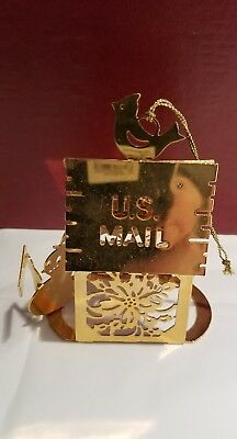 GOLD CHRISTMAS ORNAMENT Danbury Mint Us mail box