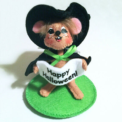 """Annalee Halloween Doll Witch Mouse 3"""" Fall 2013 NEW Costume Dress Up Wizard"""