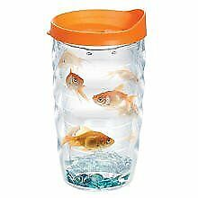 Tervis Double Wall Insulated Goldfish Wavy Design Tumbler Drinking Cup - 10 oz