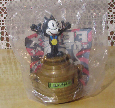 """FELIX THE CAT 1996 Trophy Spin To Choose From 4 Titles Sealed Bag 4""""Tall Wendy's"""