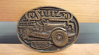 Vintage 1982 Fire Fighter Belt Buckle Oklahoma State Fire Fighter Museum