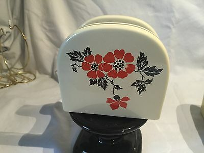 Hall Red Poppy Pattern Napkin Holder ~ New & Minty • Nice Addition To Your Set