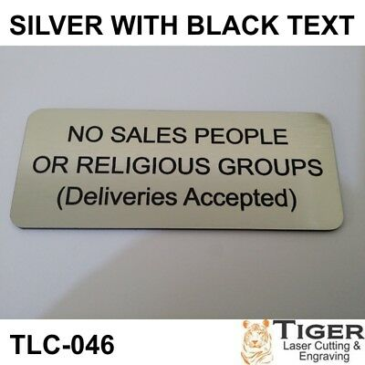 No Sales People Sign Or Religious Groups Sign 10Cm X 4.5Cm