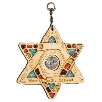 Wooden Star of David with Blessings