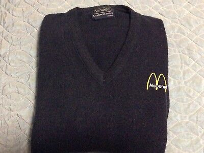 McDonald's vintage (early-80s) manager uniform sweater men's Small