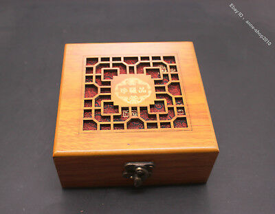 12cm  Advanced Silk Wood Handmade Jewelry Pendant Necklace Ring Box Boxes JB
