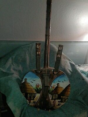 Vintage KORA Musical String African Instrument hand made / painted