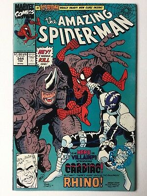 Amazing Spiderman #344 First Appearance of Cletus Kasady (Carnage)  - Key Issue