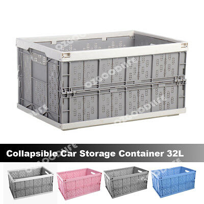 Archive Box Instacrate Collapsible Folding Crate  Car  Storage Container 32 L