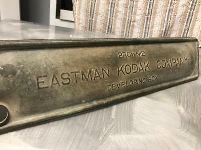 Old Vintage Retro Eastman Kodak Embossed Box Brownie Camera Wall Art Sign Mancav