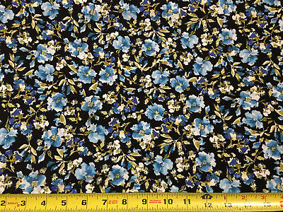 64fae2fb303 Rayon Spandex Knit Jersey Fabric Beautiful Blooming flowers Print by the  yard