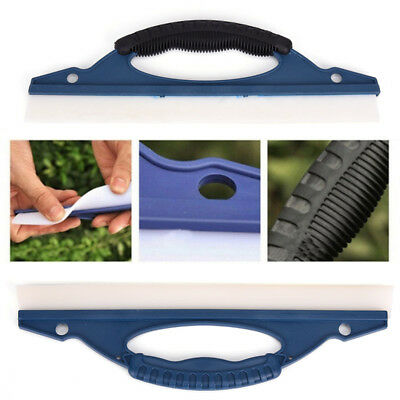 Silicone Car Window Wash Clean Cleaner Wiper Squeegee Drying Blade Shower Kit EC