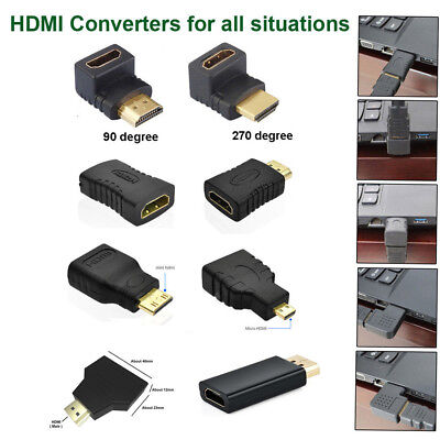 Mini/Micro HDMI Male to HDMI Female Adapter Cable Converter Connector 1080P