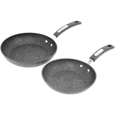 THE ROCK BY STARFRIT 060740-002-0000 Set Of 2 Fry Pans With Bakelite Handles