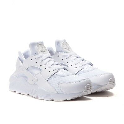 Sale Nike Air Huarache Run White Pure Platinum Triple Sz 8.5-13 New 318429 111