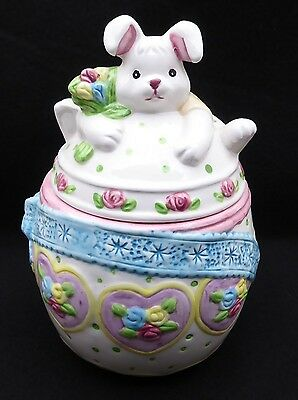 Vintage Rabbit - Bunny - Easter Small Cookie Jar  Made in Japan
