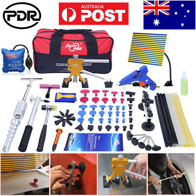 85× PDR Tools Dent Puller Lifter Paintless Hail Repair Removal T Bar Hammer Kits