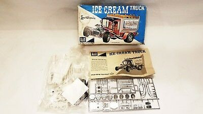 Vintage George Barris Mpc Ice Cream Truck 1/25Th Scale Model Kit