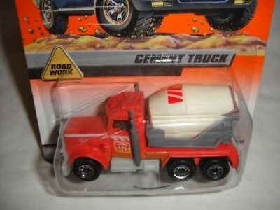 MATCHBOX #26 OF 100 RED, grey AND WHITE ROAD WORK SERIES CEMENT TRUCK DIE-CAST