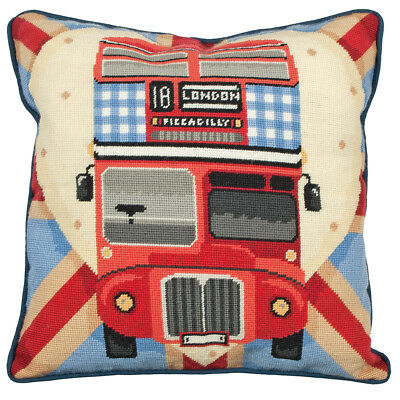 Tapestry Kit: Cushion : Living : Red Bus on Union Jack - ALR76