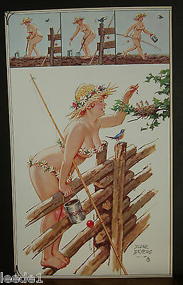 Duane Bryers Hilda Page Feeds Baby Bluebirds Worms In Nest Wood Fence Straw Hat