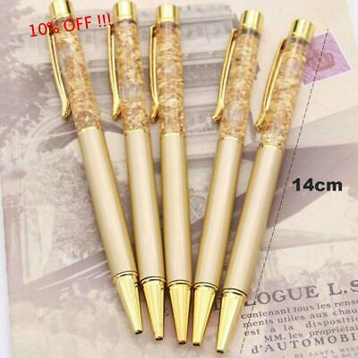 Gold Foil Gift Pen Crystal Diamond Pen Metal Ballpoint Pens School Stationery MM