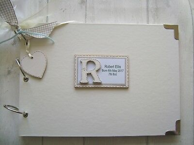 PERSONALISED NEW BABY. FIRST YEAR A4 SIZE PHOTO ALBUM//SCRAPBOOK//MEMORY BOOK.