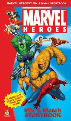 MARVEL HEROES: MIX & MATCH STORYBOOK By Randy Meredith - Hardcover **BRAND NEW**