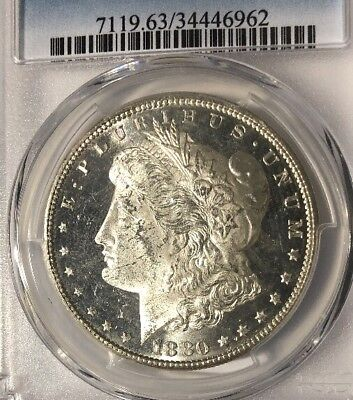 1880 S Morgan Silver Dollar $1 Proof Like Gorgeous PCGS MS63PL