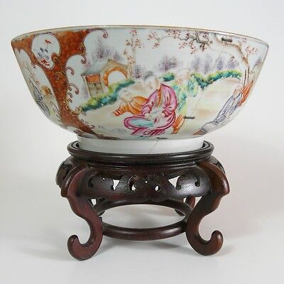 CHINESE 18th C. Qianlong c.1730 HUGE and RARE Famille Rose Punc BOWL, Large 26cm