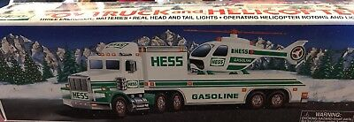 1995 Hess Toy Truck - Toy Truck And Helicopter - New In Box (Read)