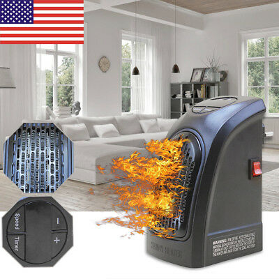 US 350W Mini Handy Wall-Outlet Heater Electric Air Radiator Home Furnace Warmer