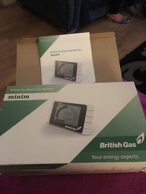 British Gas Minim Real Time Electricity Monitor Energy Usage Meter