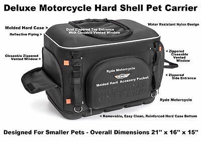 T-Bag Molded Deluxe Motorcycle Dog Cat Pet Carrier Tour Pack Luggage Rack SB Mnt