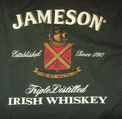Jameson Irish Whiskey Mens T-Shirt, Green, Cotton, Size XL, EUC
