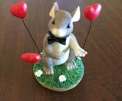 1997 Charming Tails My Heart's All Flutter (Groom) Valentine Hearts With Box