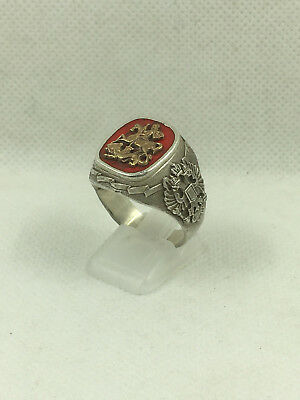 Russian Solid Silver Saint George ring