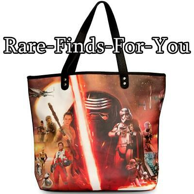 Disney Parks Star Wars Characters Movie Poster Style Loungefly Tote Bag NEW/TAGS