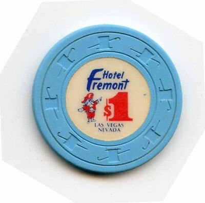1.00 Chip from the Fremont Casino in Las Vegas Nevada Lt Blue