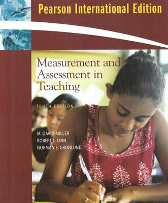 MEASUREMENT AND ASSESSMENT IN TEACHING By M Miller M. David Miller **BRAND NEW**