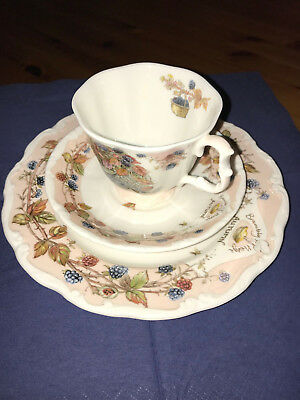 Royal Doulton Brambly Hedge Garnitur Autumn Teller, Tasse und Untertasse