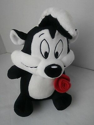 PEPE LE PEW VALENTINE'S DAY SINGING PLUSH with ROSE  HALLMARK STUFFED ANIMAL #JJ