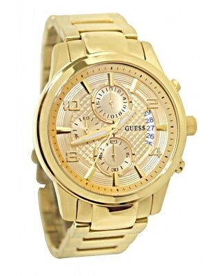 Guess  Men's Gold-Tone Chronograph Stainless Steel Watch - U0075G5
