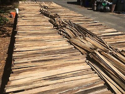 Antique Hand Split Wood Lath salvaged from a 1818 home total over 200 sq feet